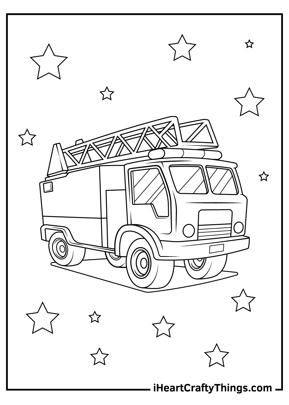 free fire department coloring pages printable
