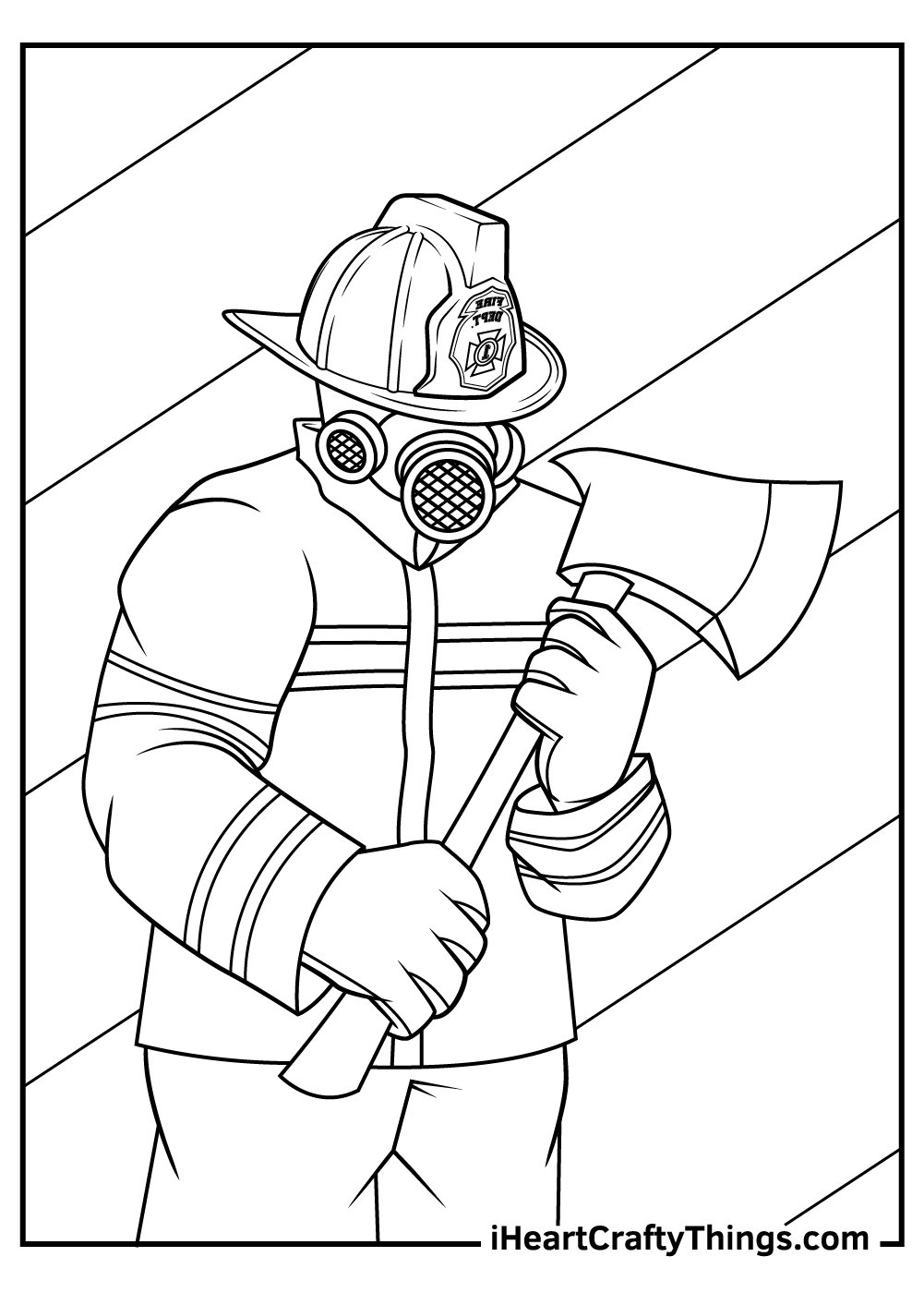 a fireman coloring pages free download