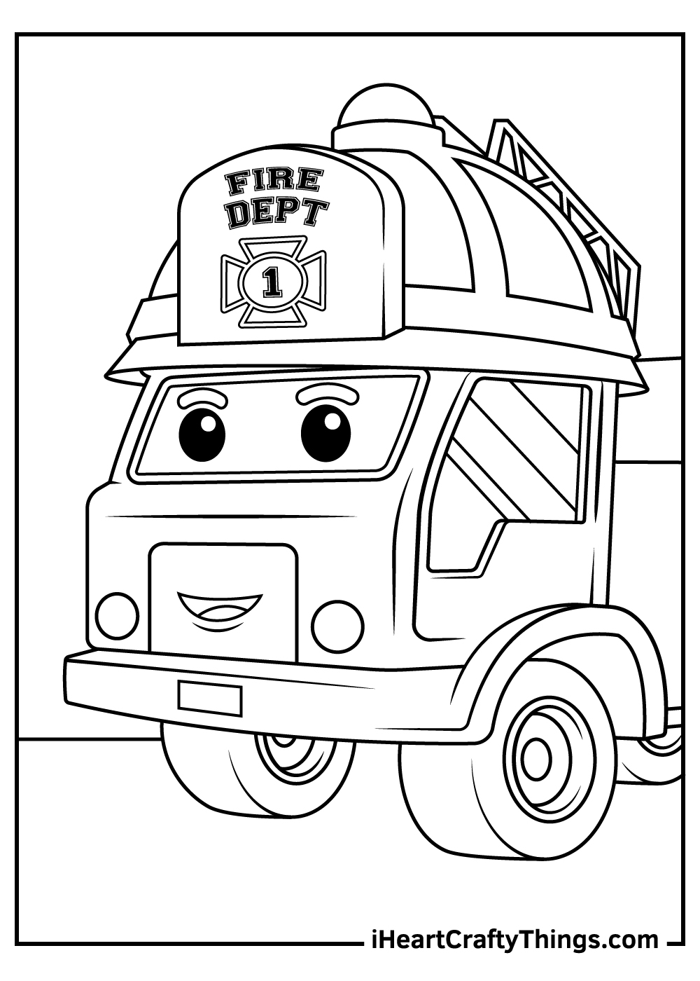 fire truck coloring pages preschool