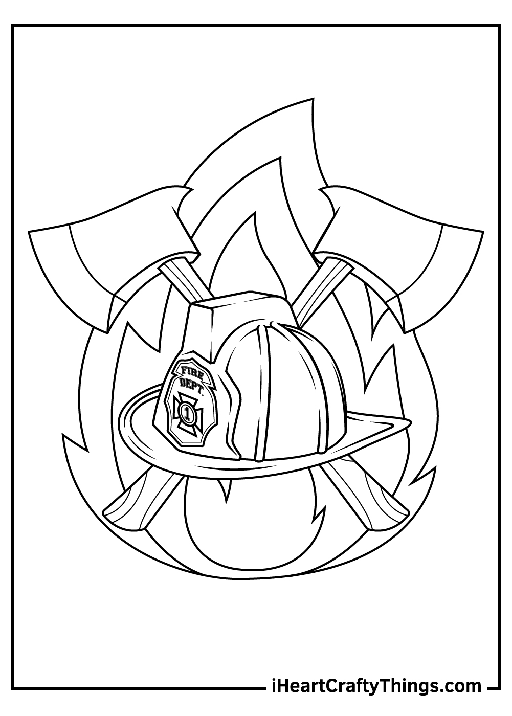 fireman helmet coloring pages free download