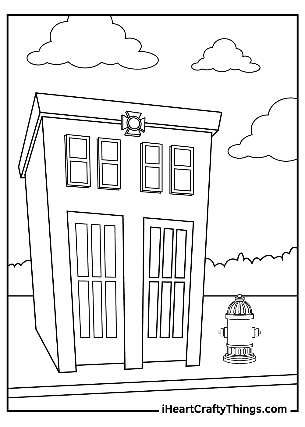 fire hydrant coloring pages free printabes