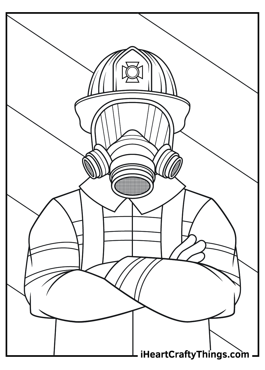 fireman gear coloring pages free to print out