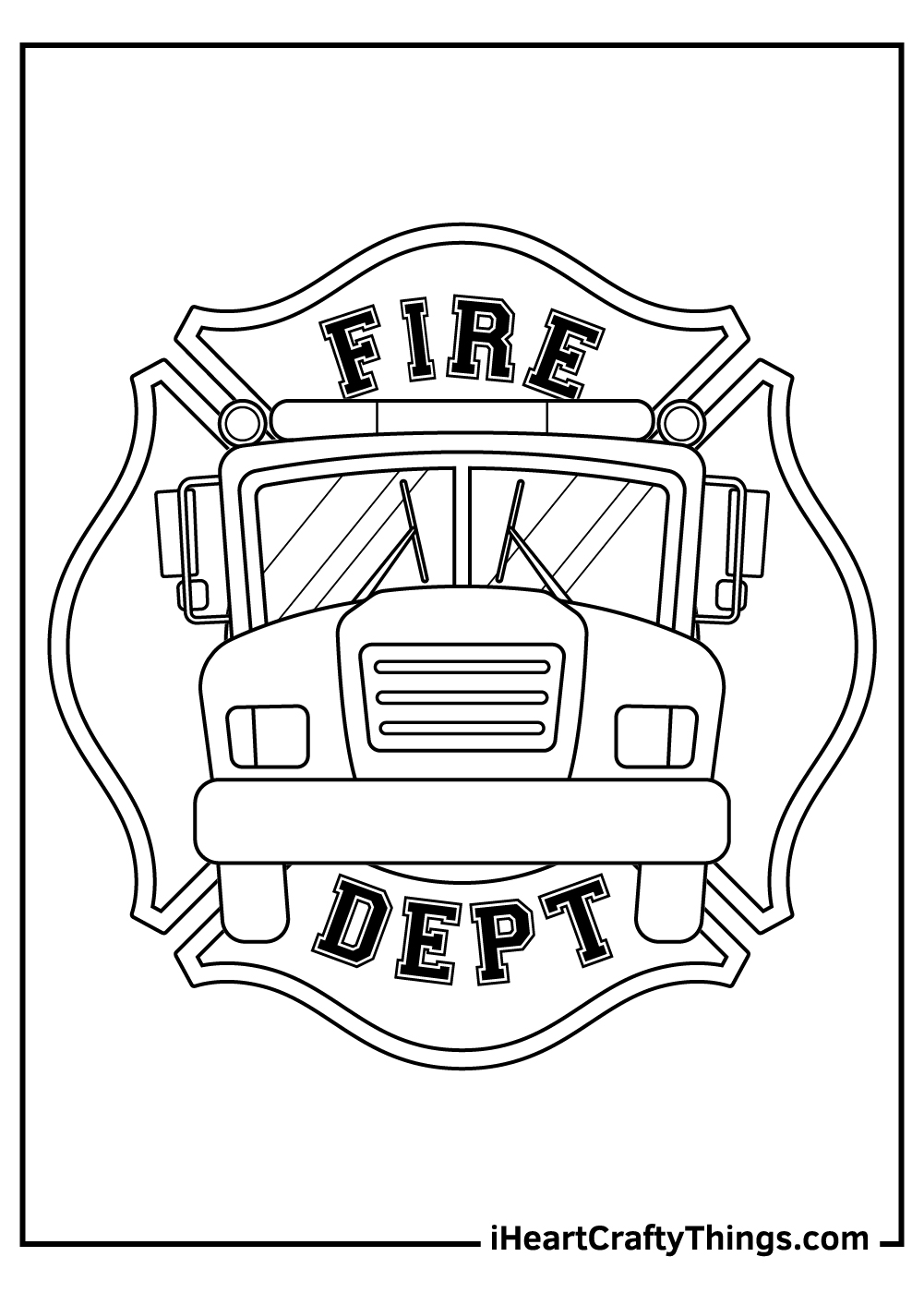 fire engine coloring pages preschool