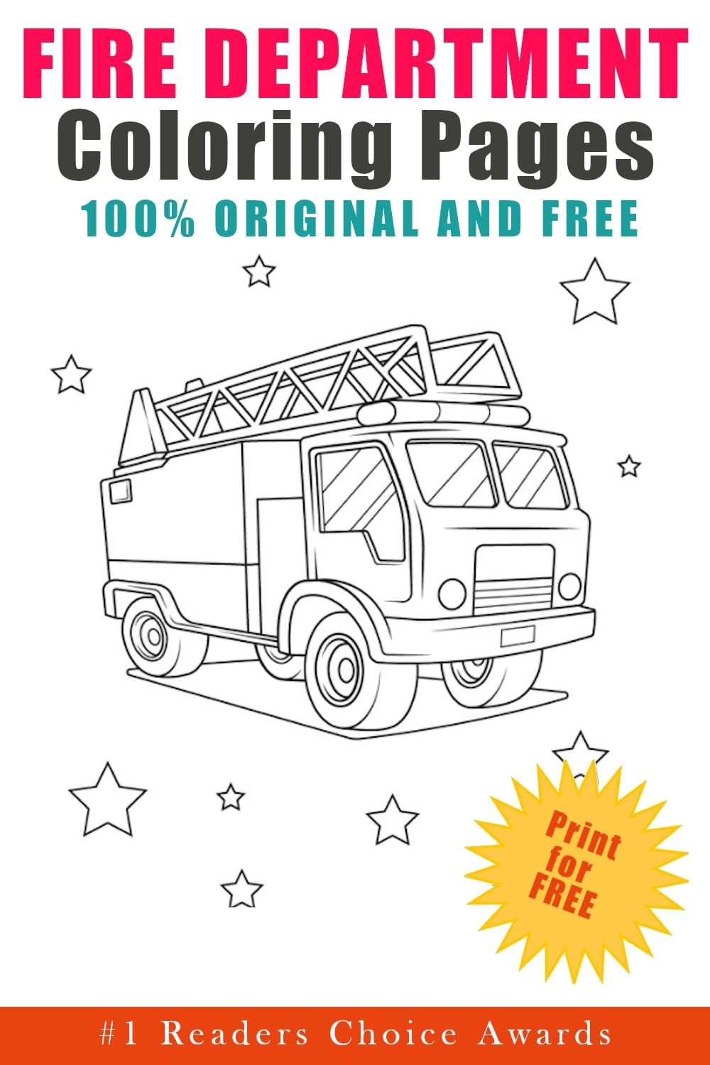 original and free fire department coloring pages