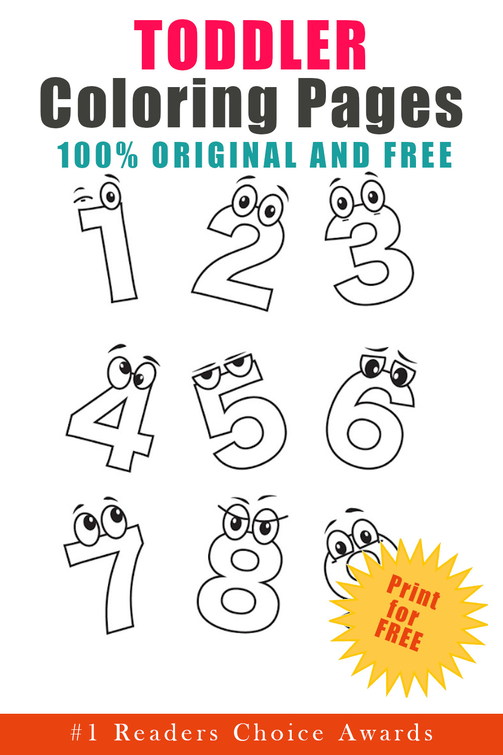original and free toddler coloring pages
