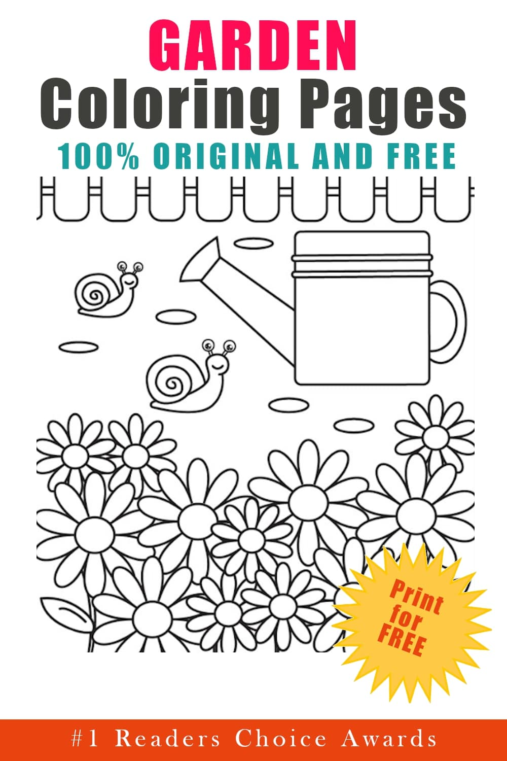 original and free garden coloring pages