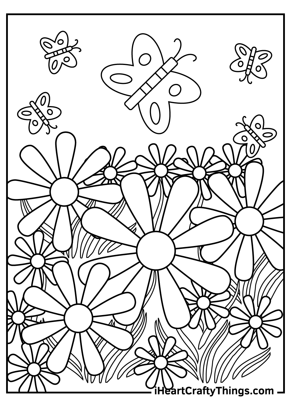 garden coloring pages for kids free download