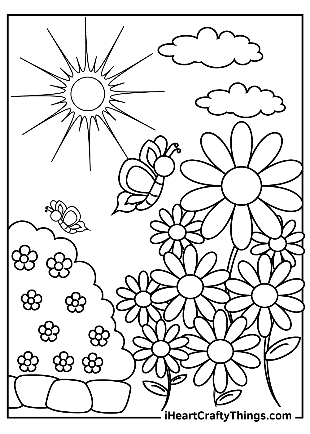 flower garden coloring pages free printable