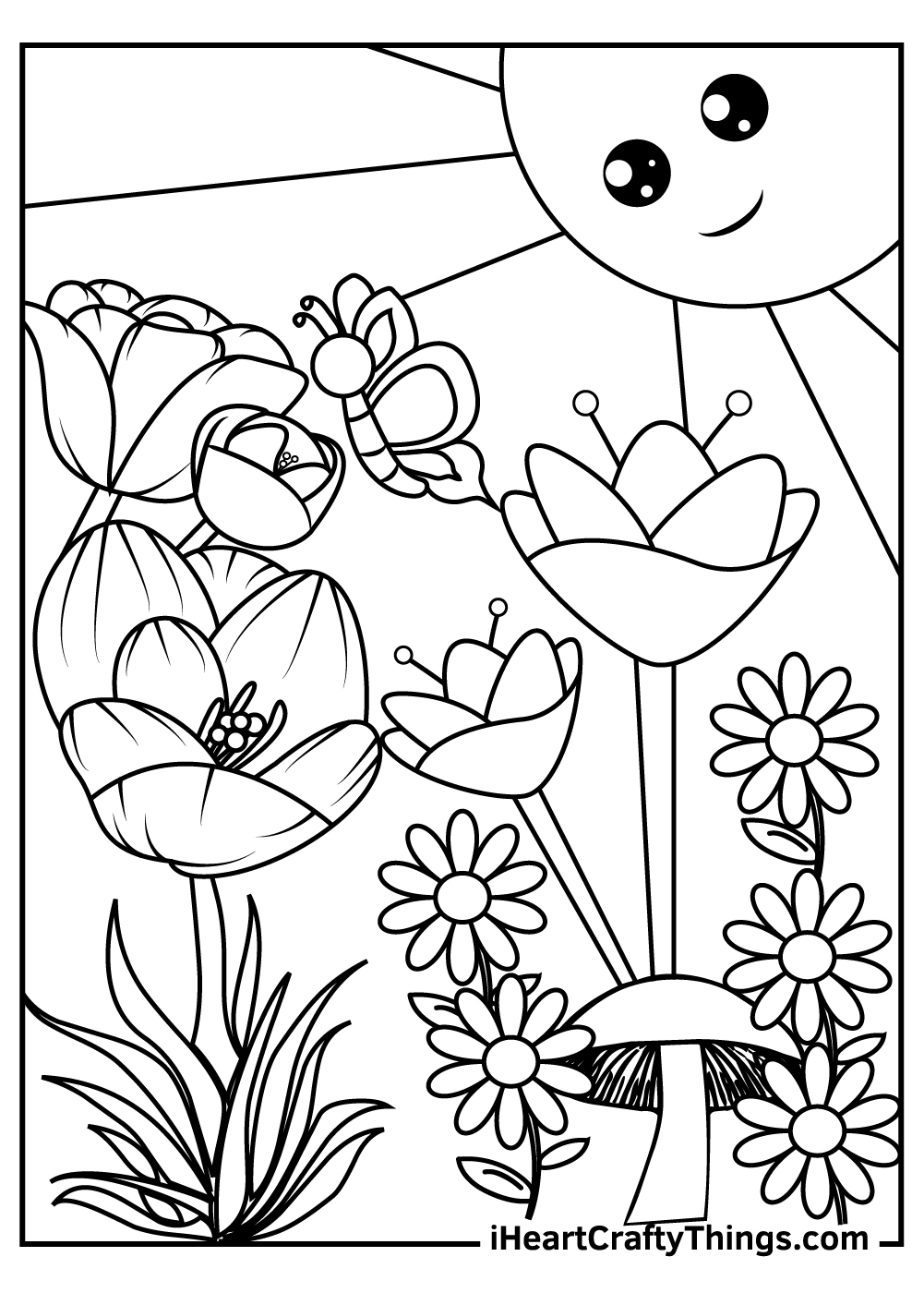 garden coloring pages for preschool free printable