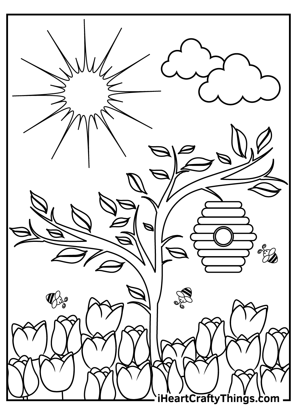 enchanted garden coloring pages free printable