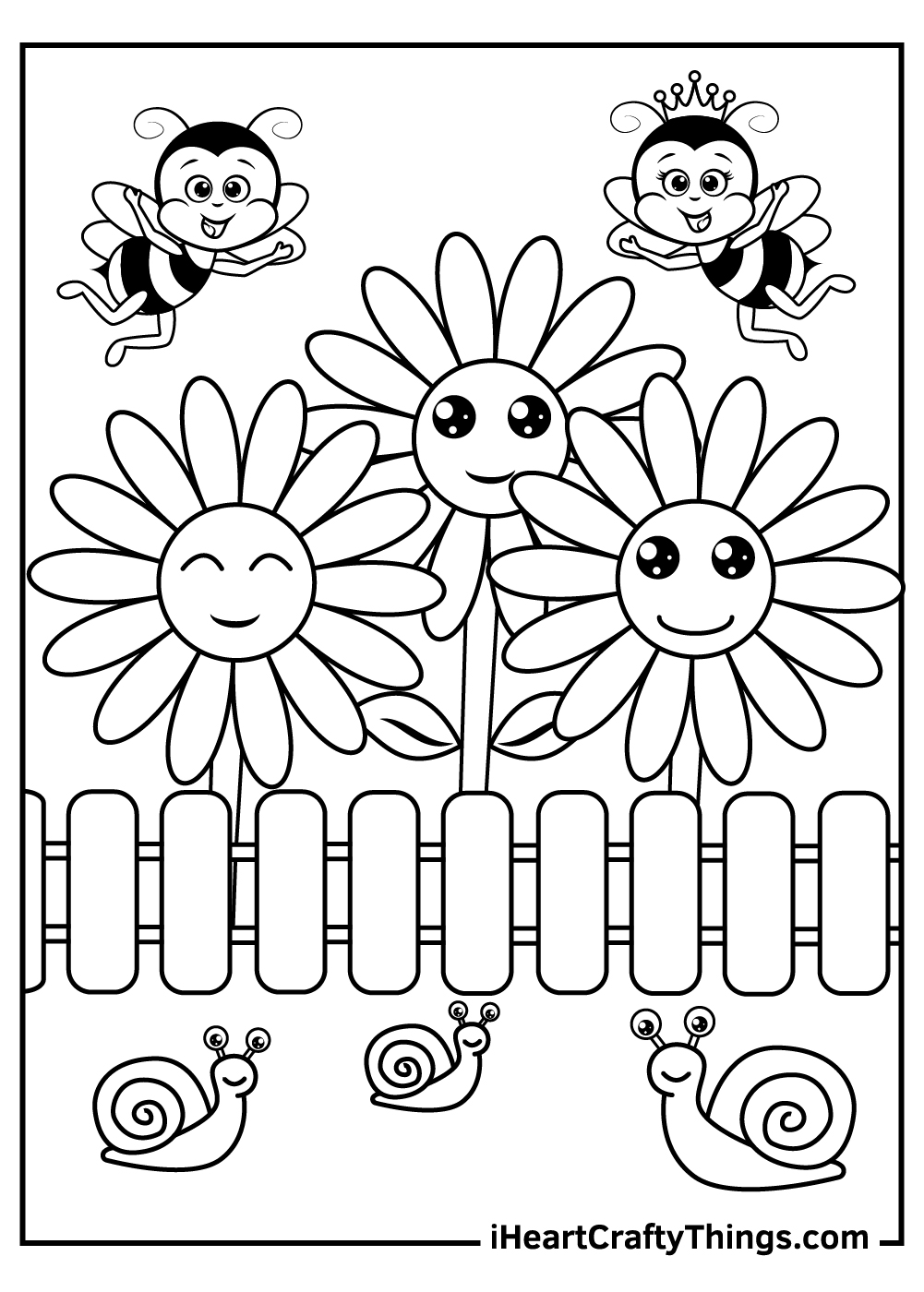 flower garden coloring pages for kids free to print out