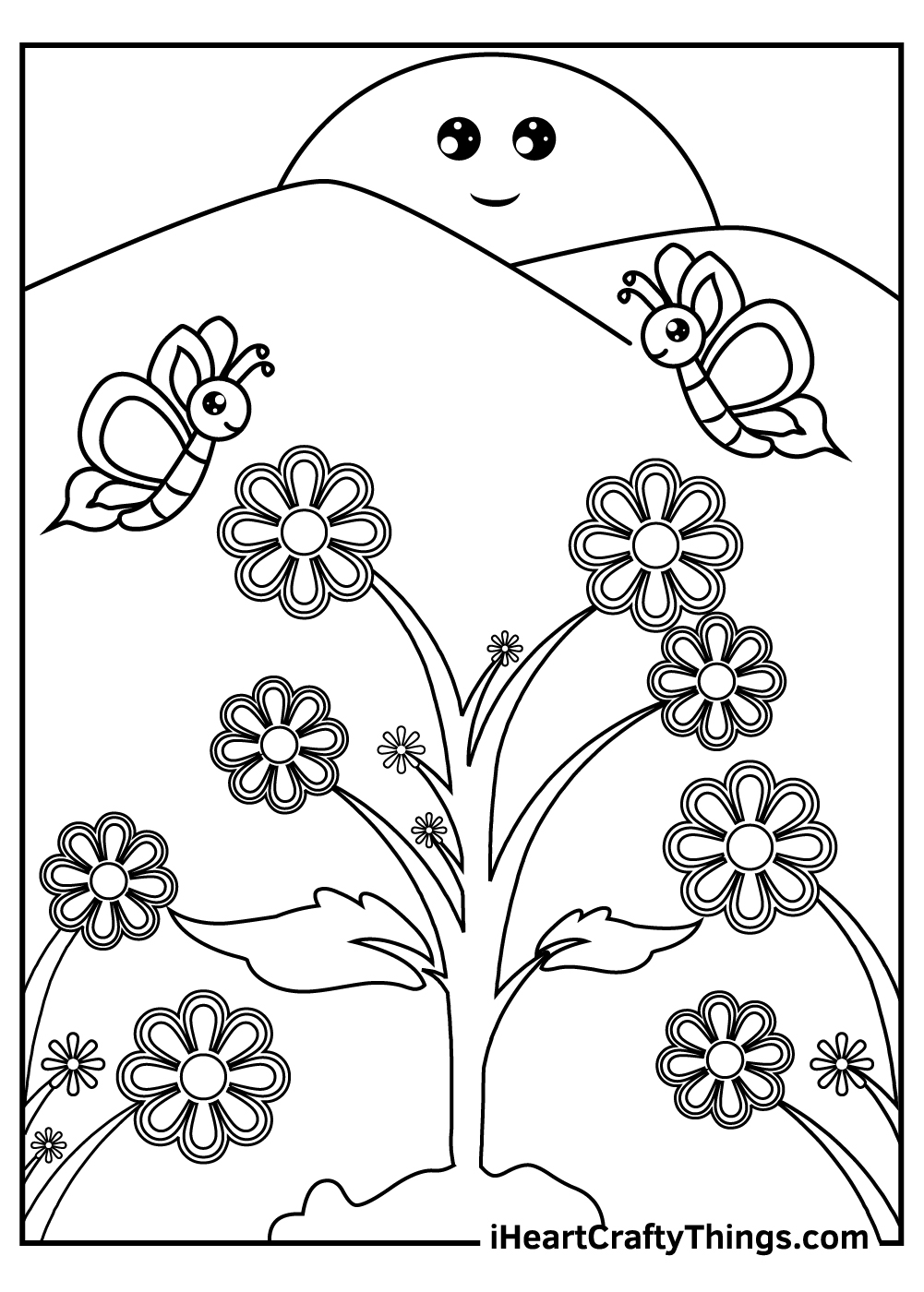 fairy garden coloring pages for kids