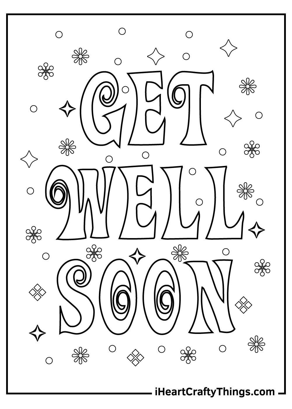 free get well soon coloring pages