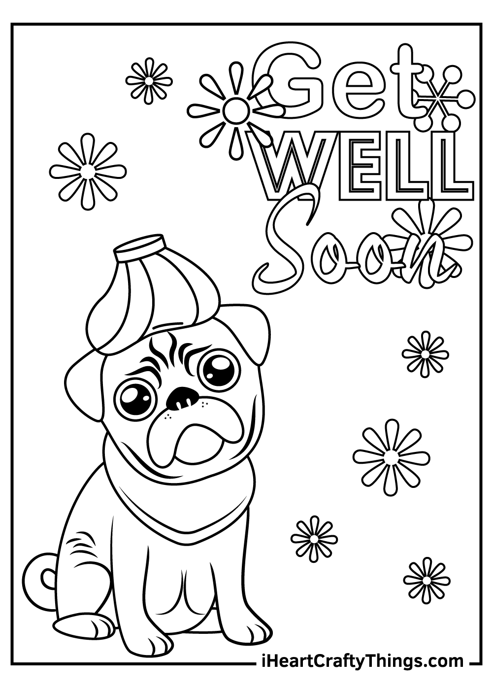 get well soon coloring pages for kids