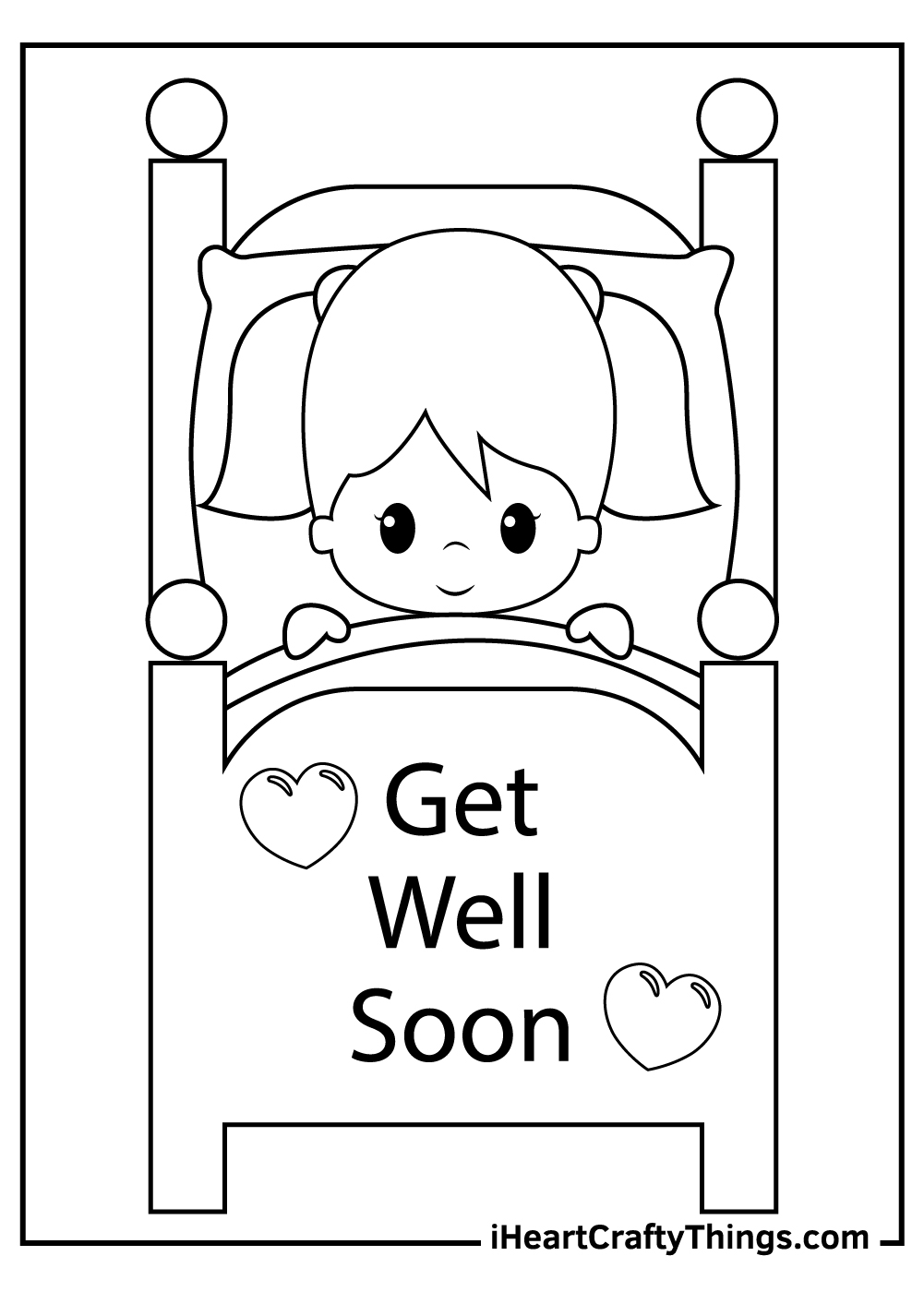get well soon coloring pages free pdf