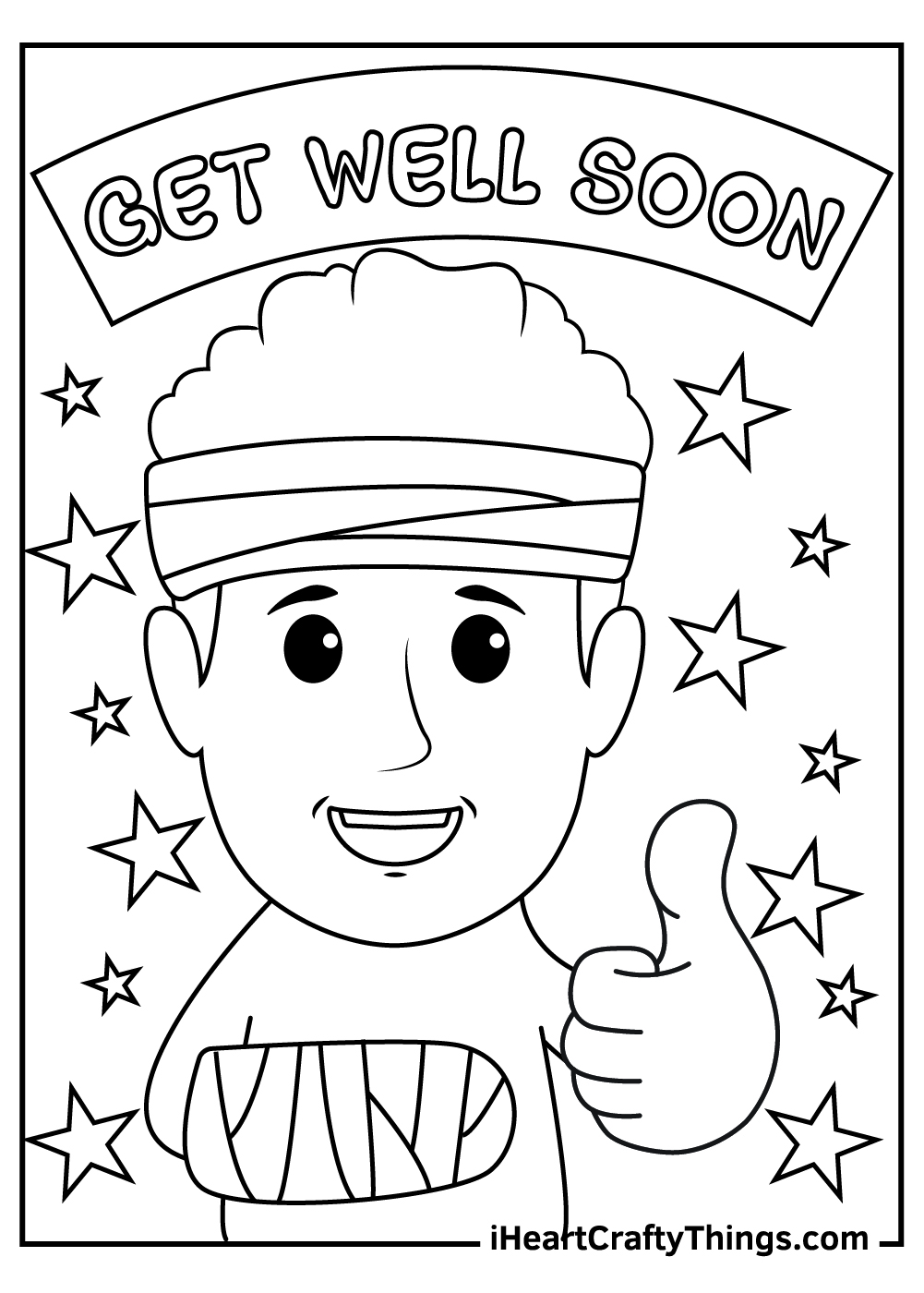 get well soon friend coloring pages free printable