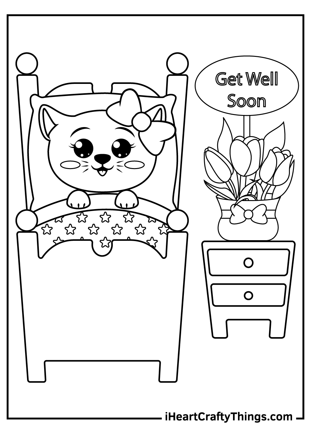 get well soon sister coloring pages free download