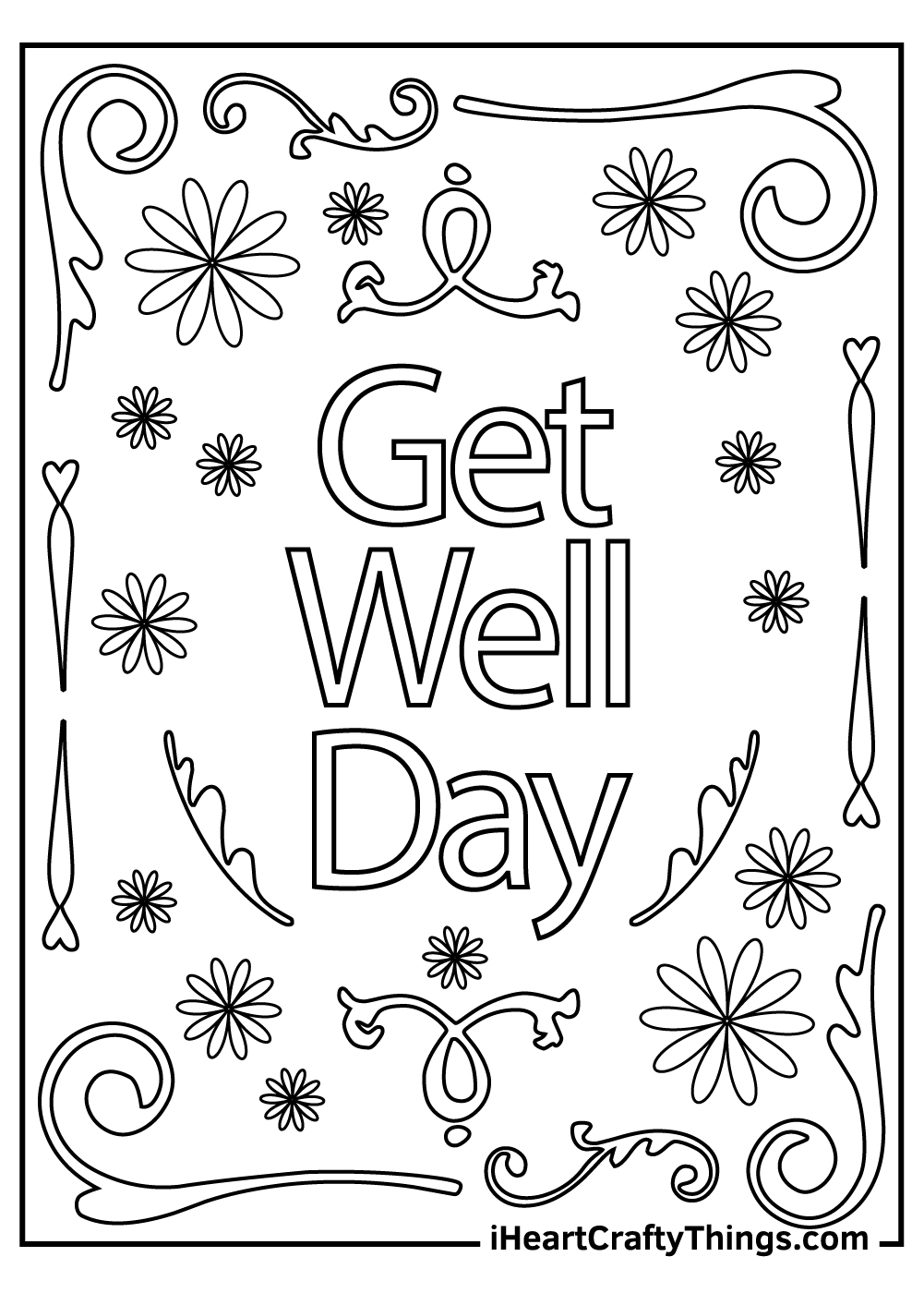 inspirational get well soon coloring pages free printable