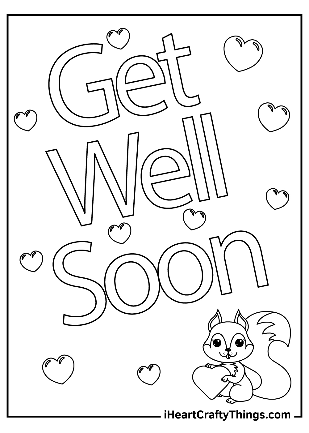 get well soon coloring pages friend free download