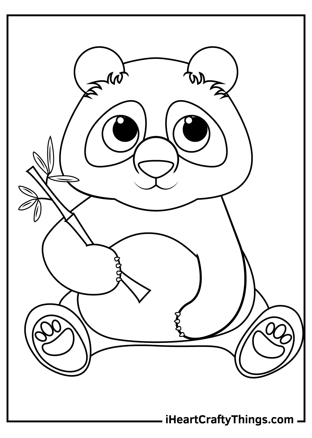 free giant panda coloring pages