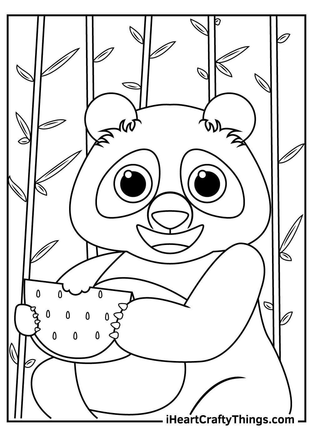 free pdf giant panda coloring pages