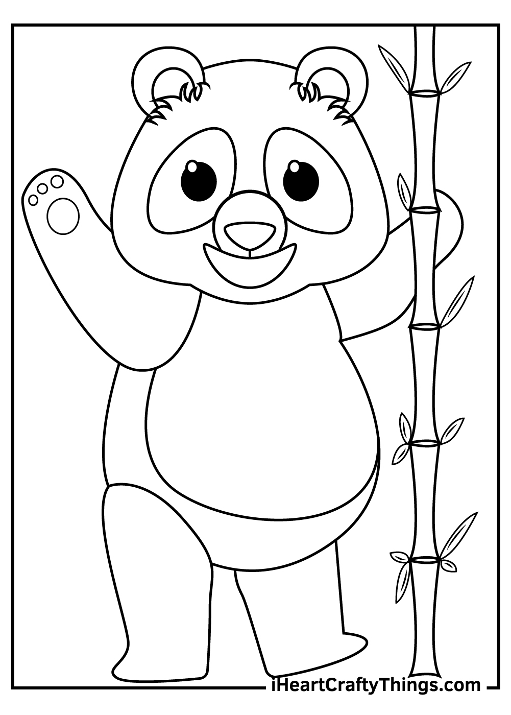 giant panda coloring pages free printable