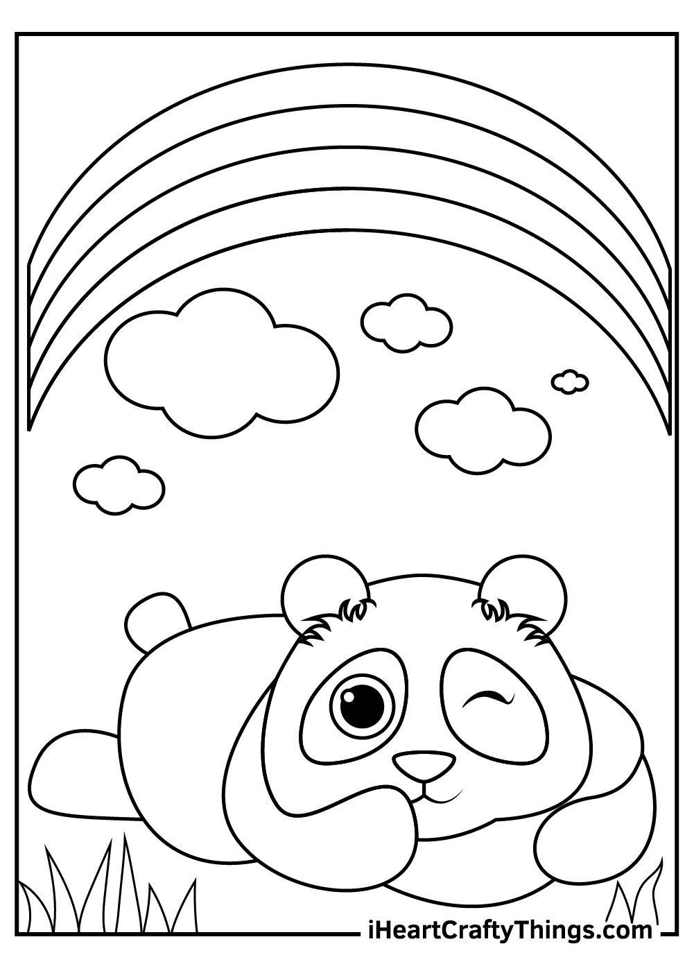 black and white panda printable sheet pdf