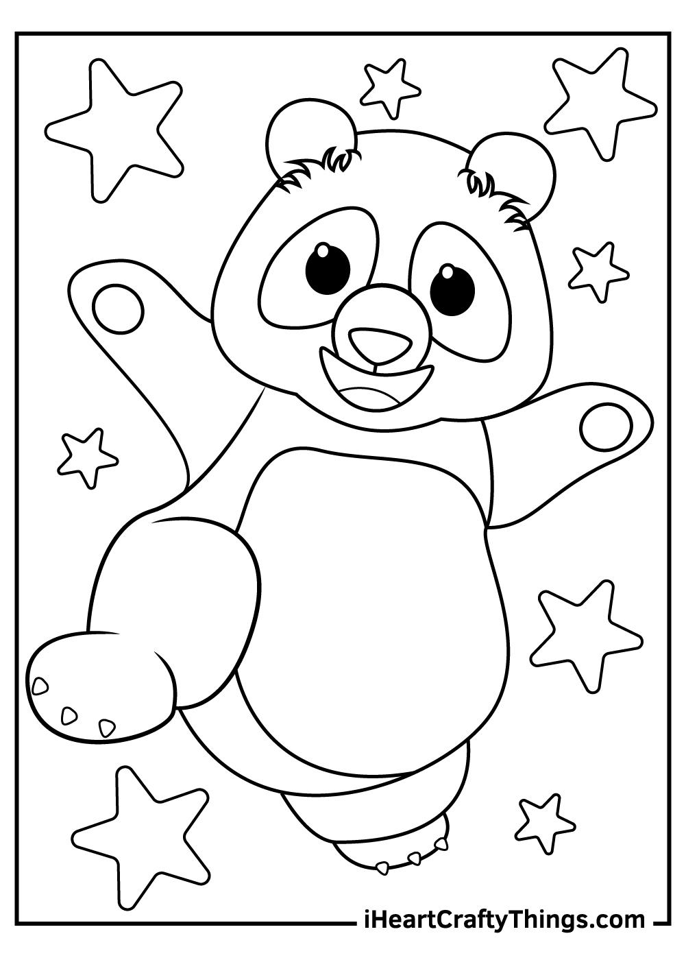 giant panda coloring pages free pdf