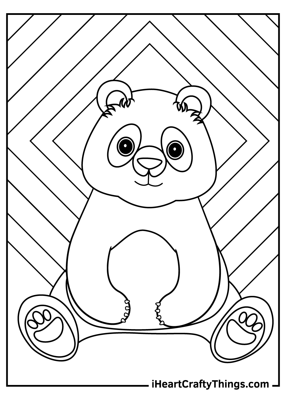 cute giant panda coloring pages free pdf