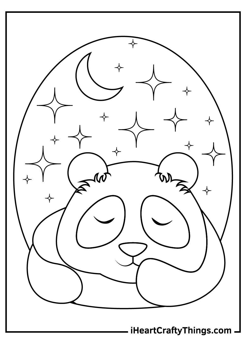 sleeping giant panda coloring pages free pdf