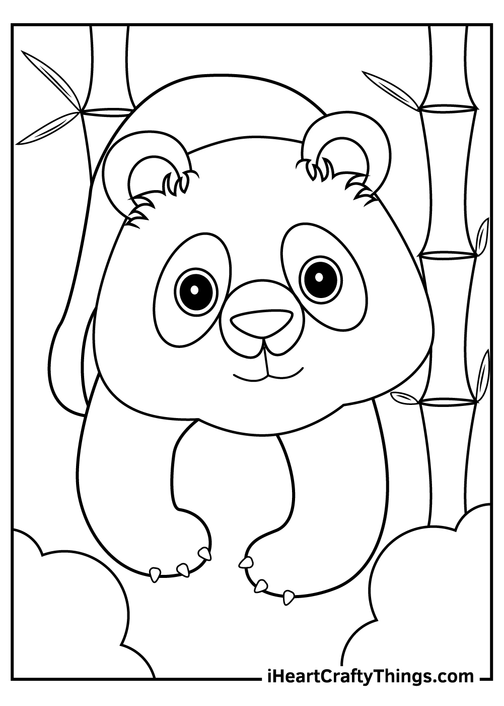 giant panda coloring pages free download