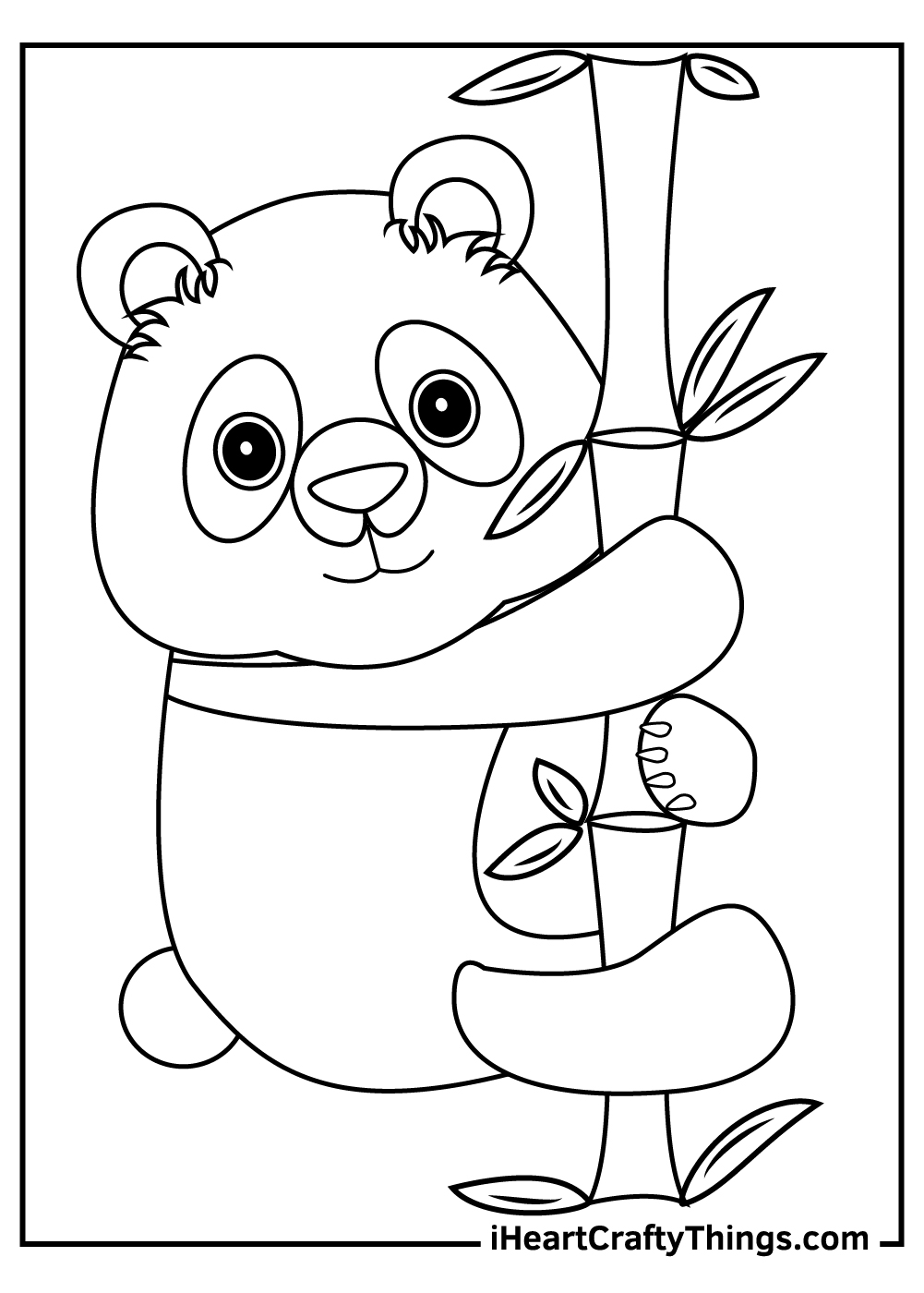 giant panda coloring pages free to download