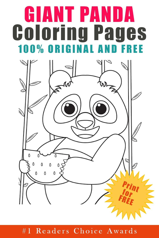 original free giant panda coloring pages