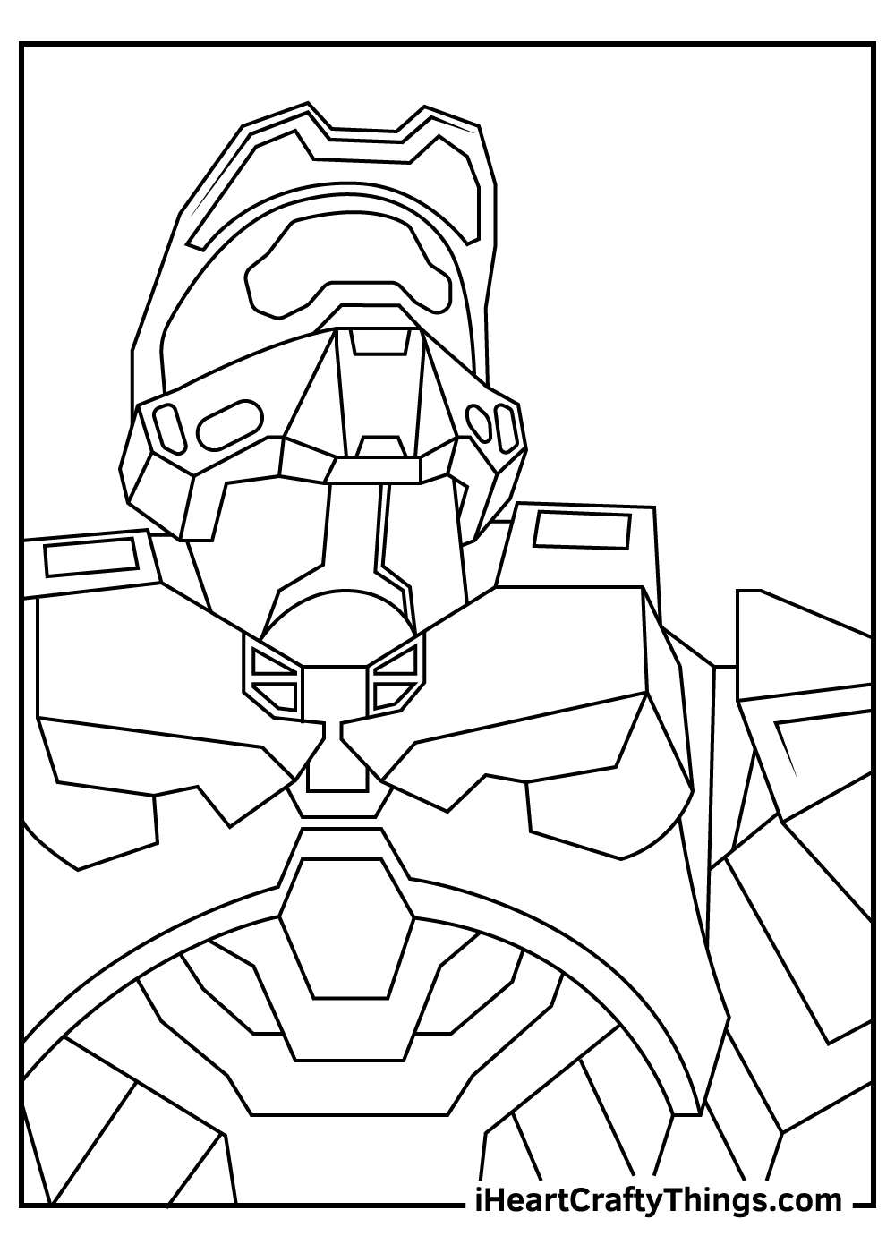 halo coloring pages free printables