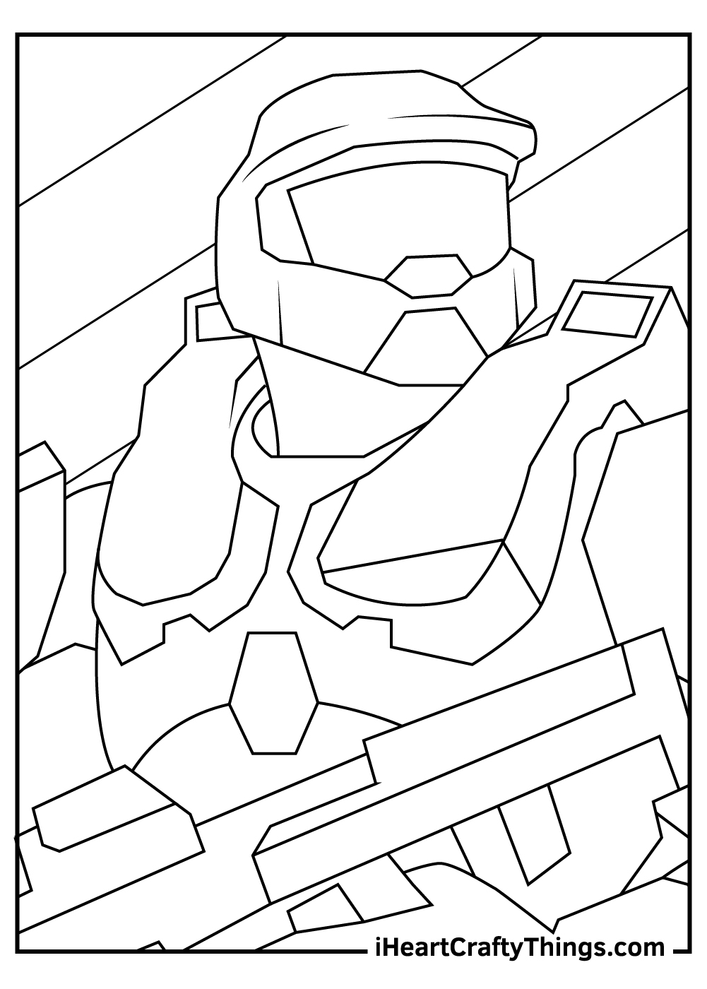 master chief halo coloring pages free printables