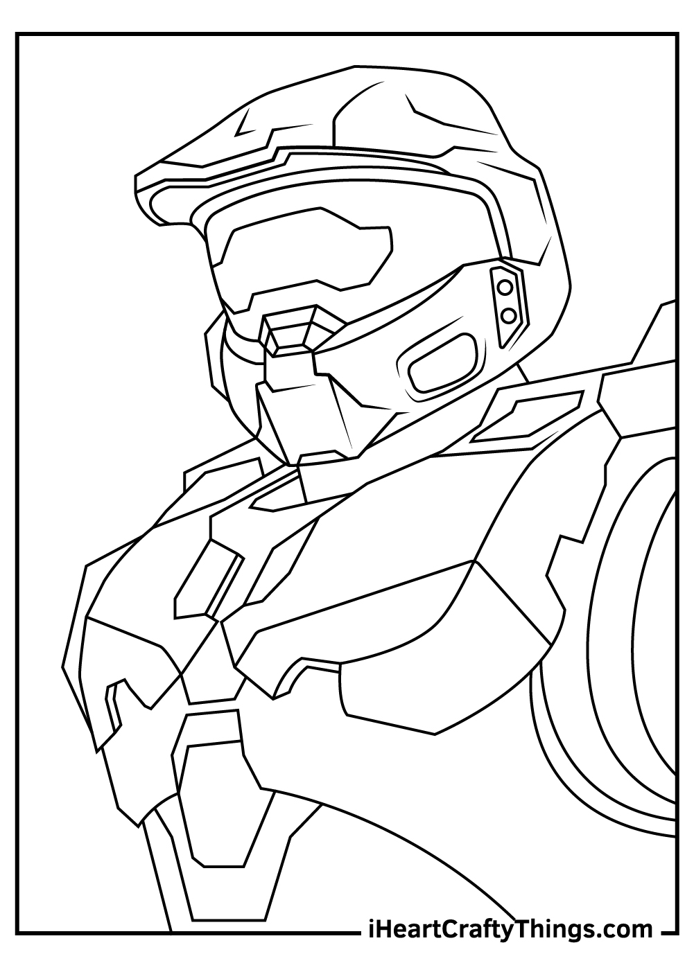 new halo coloring pages free download