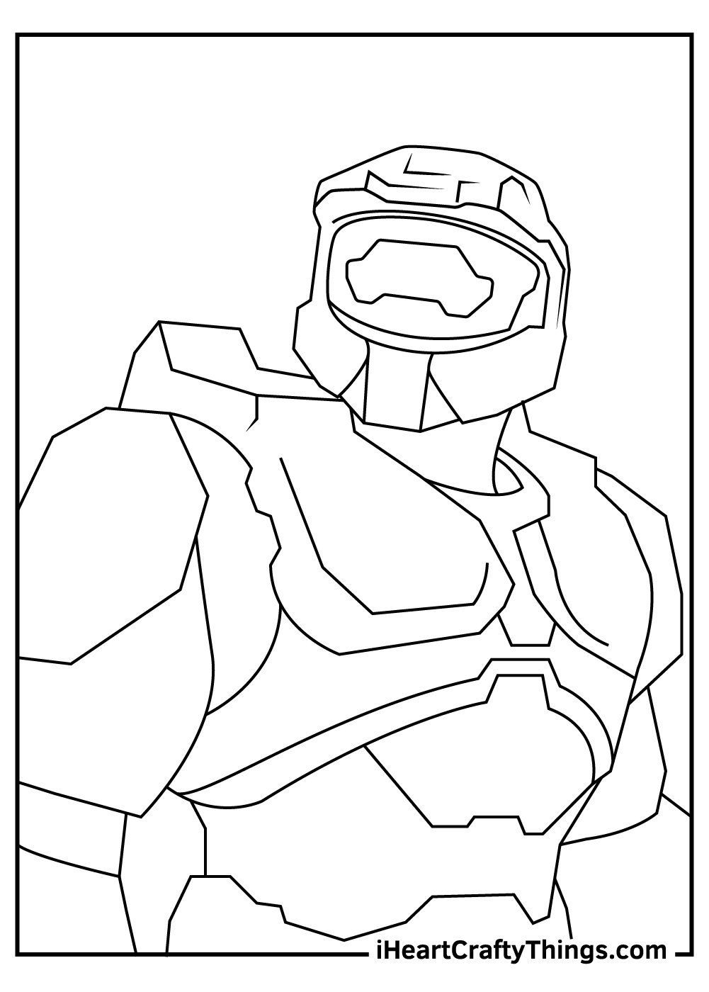 halo coloring sheet free printables