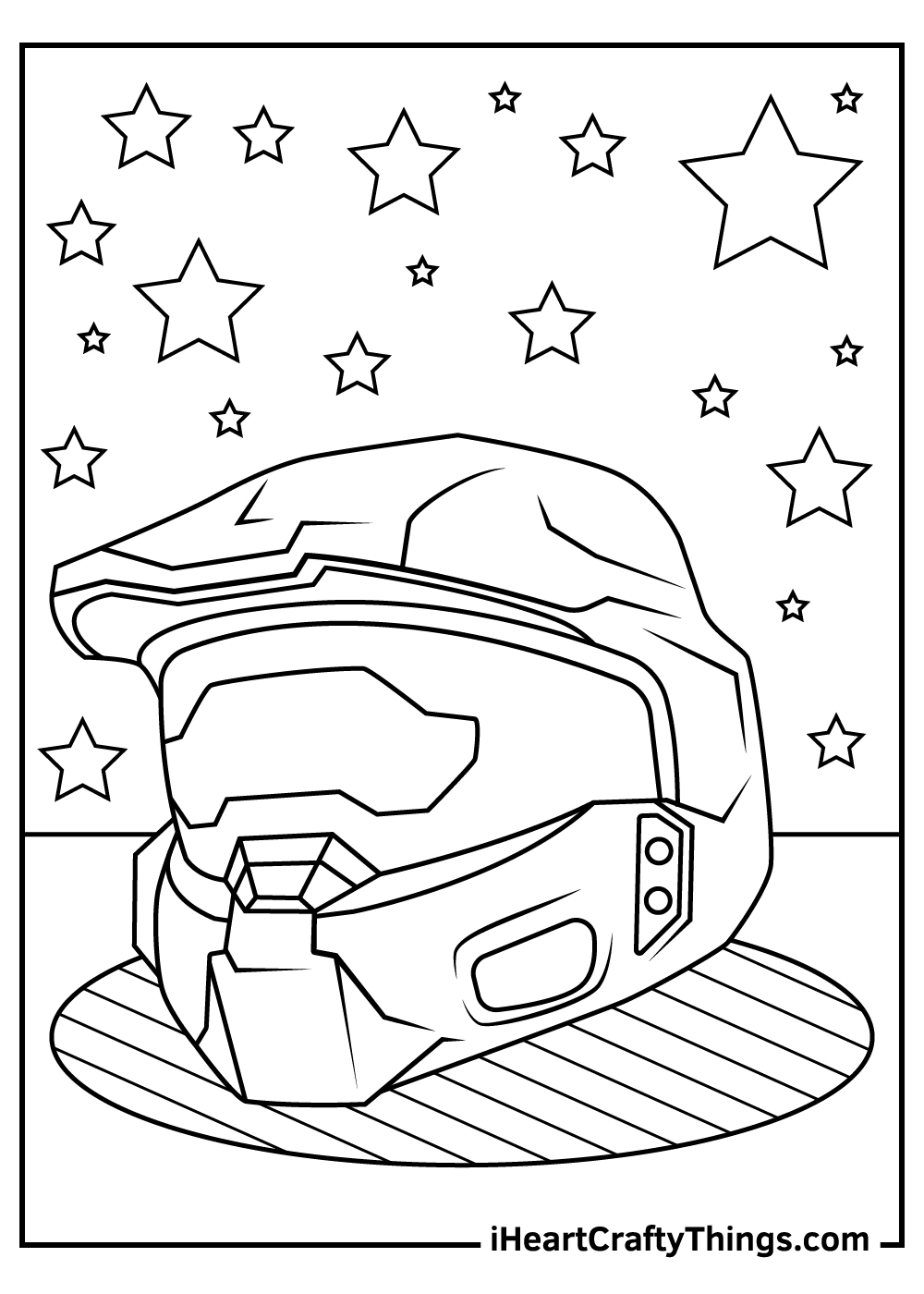easy master chief coloring pages free print out