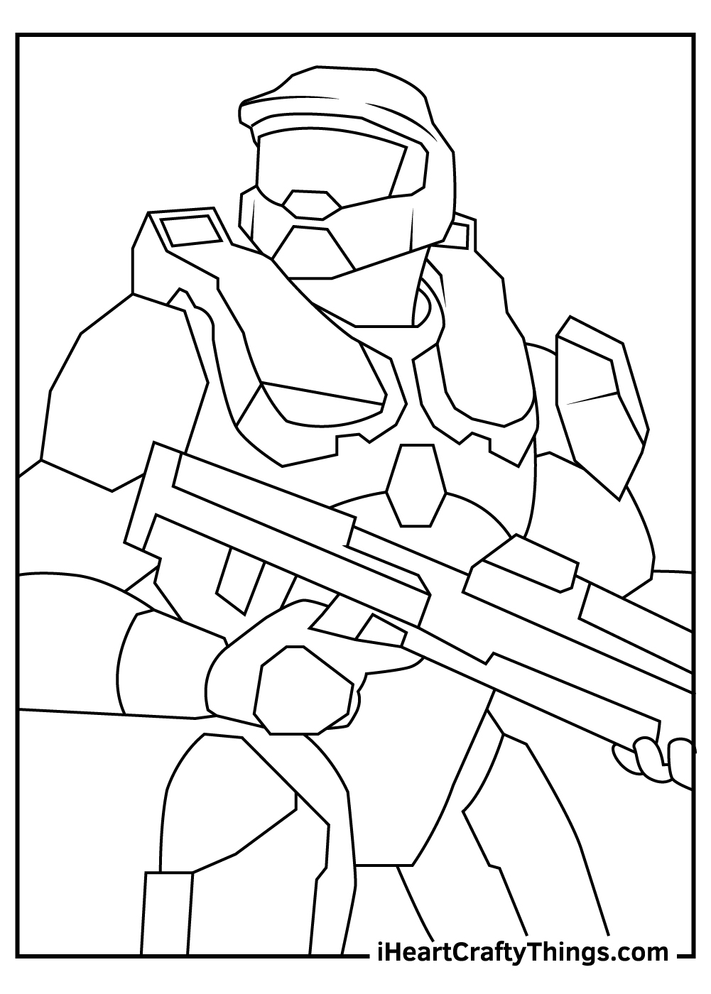 easy master chief halo coloring pages free download