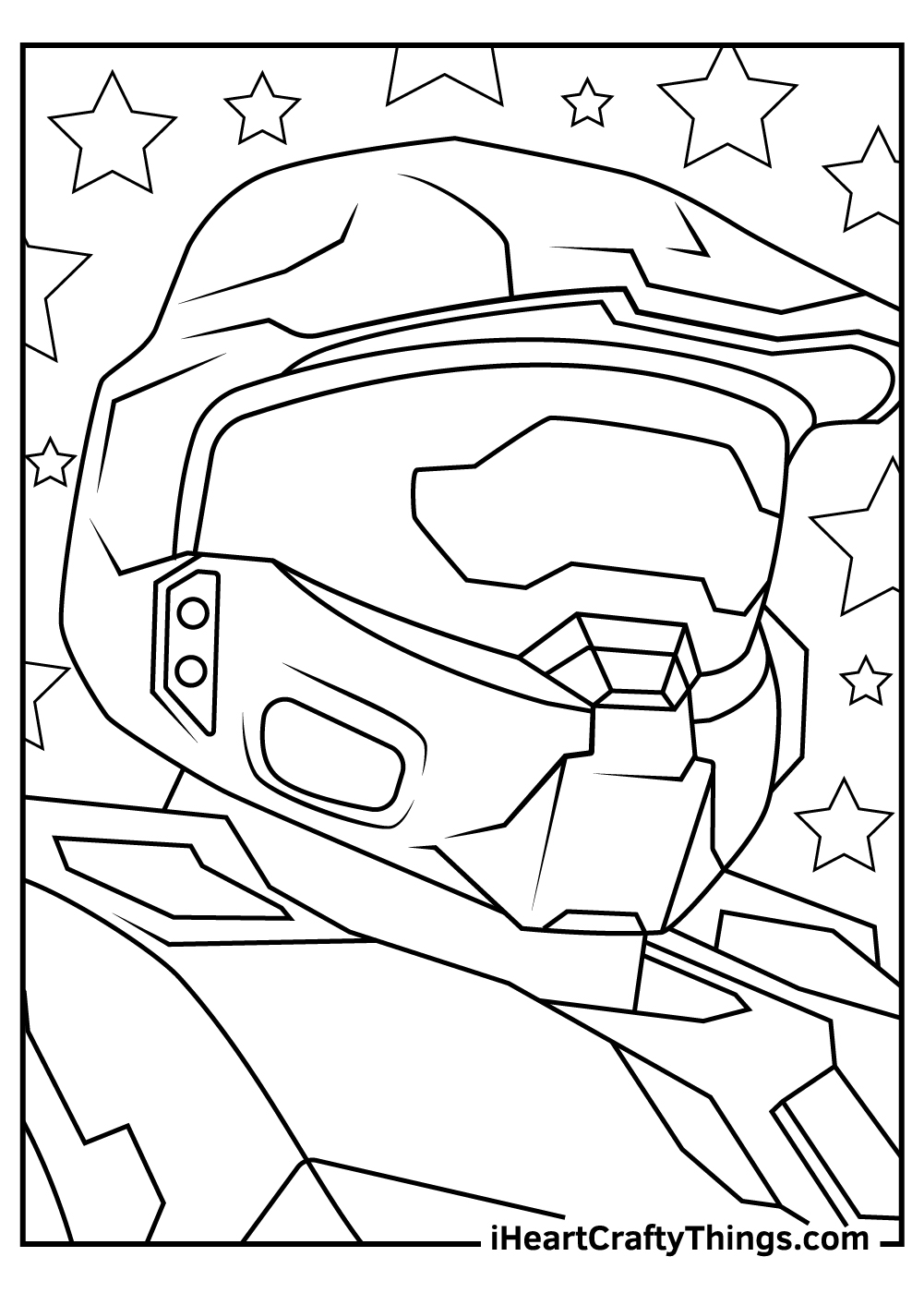 master chief head coloring pages free download