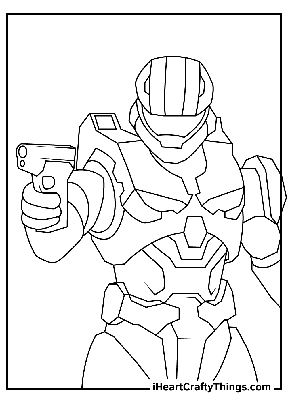 simple master chief coloring pages free printables