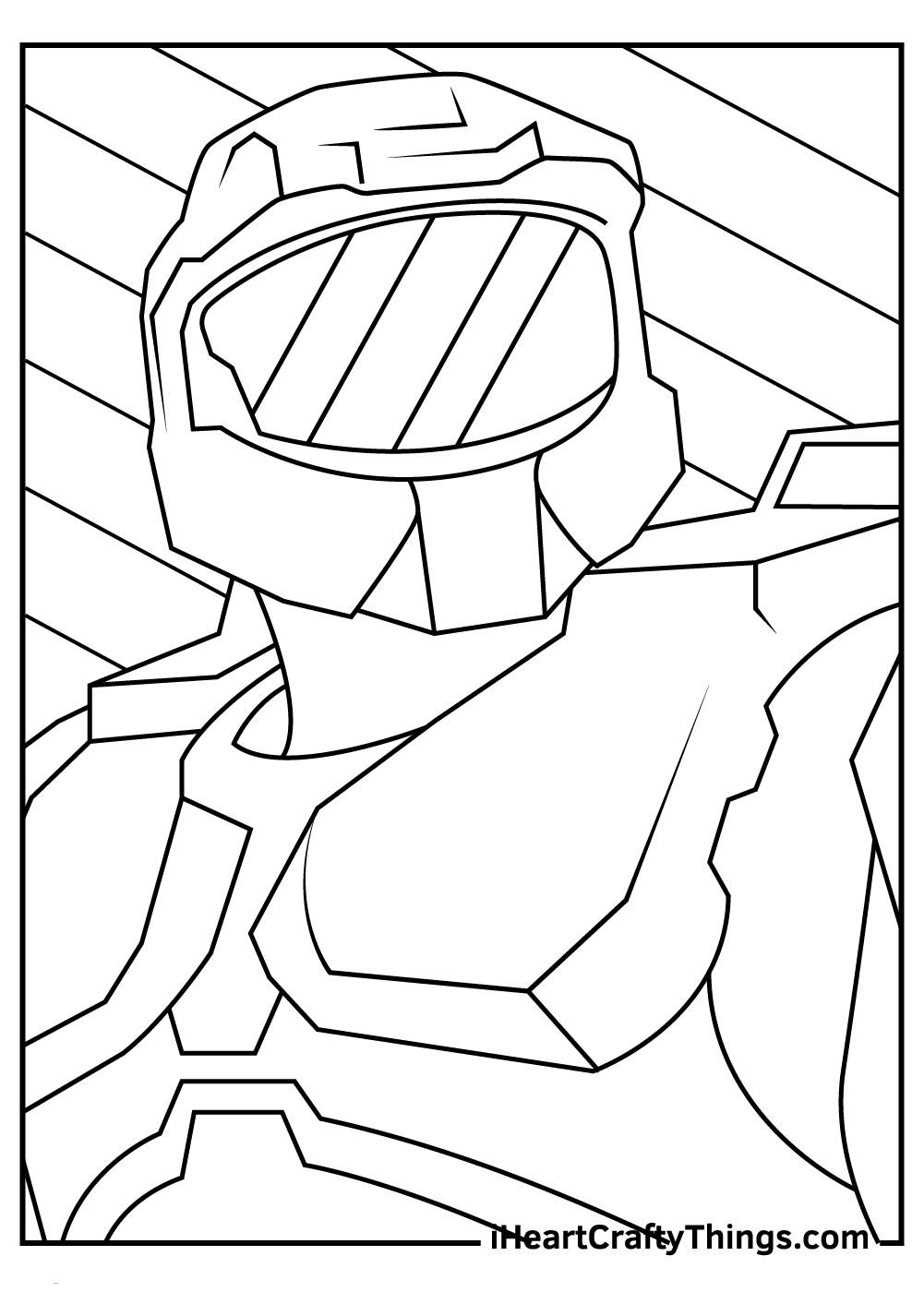 master chief coloring pages free pdf