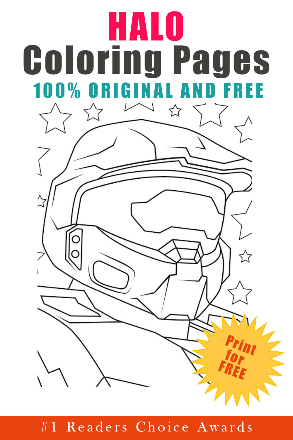 original and free halo coloring pages