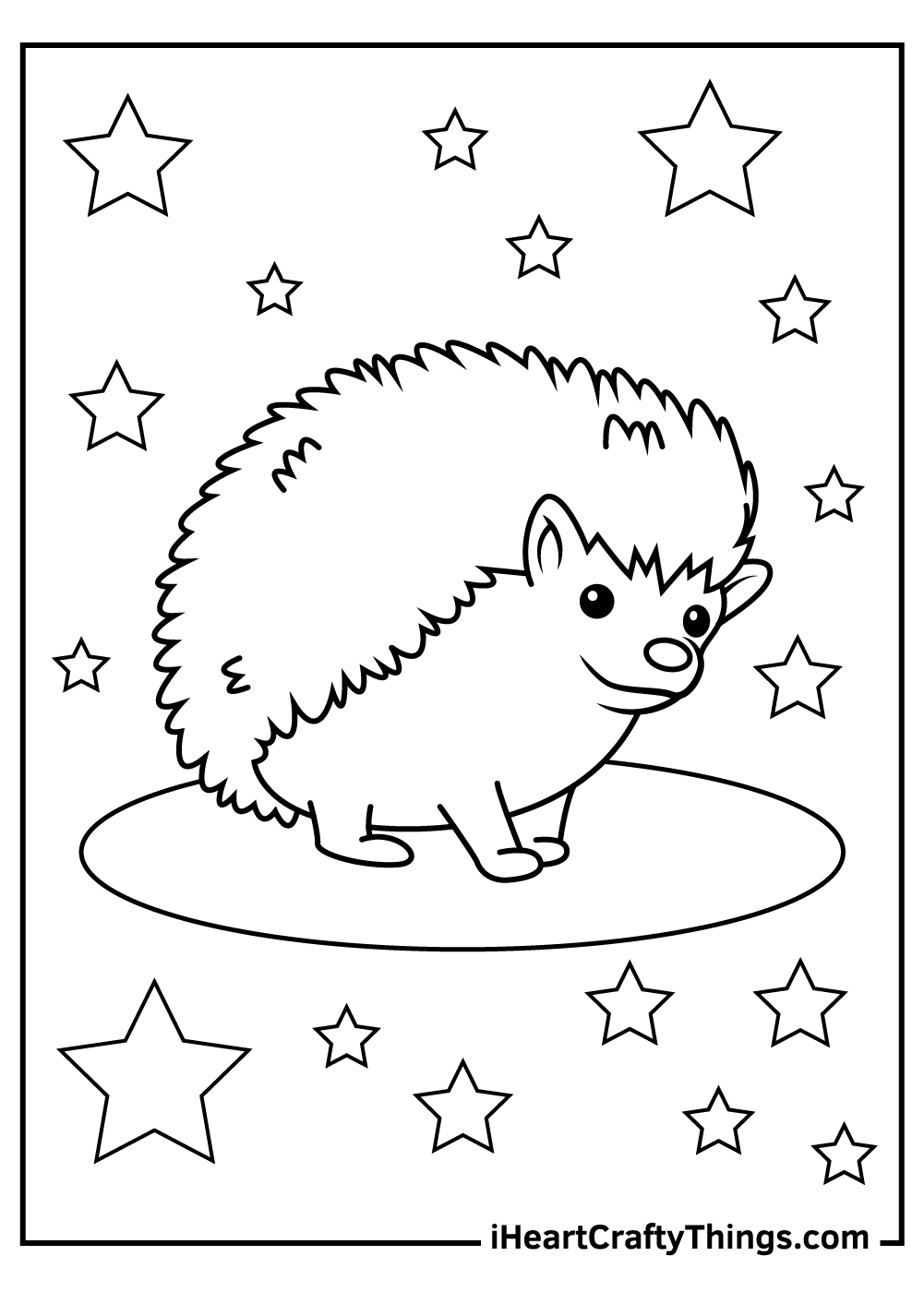 animals hedgehog coloring pages free download