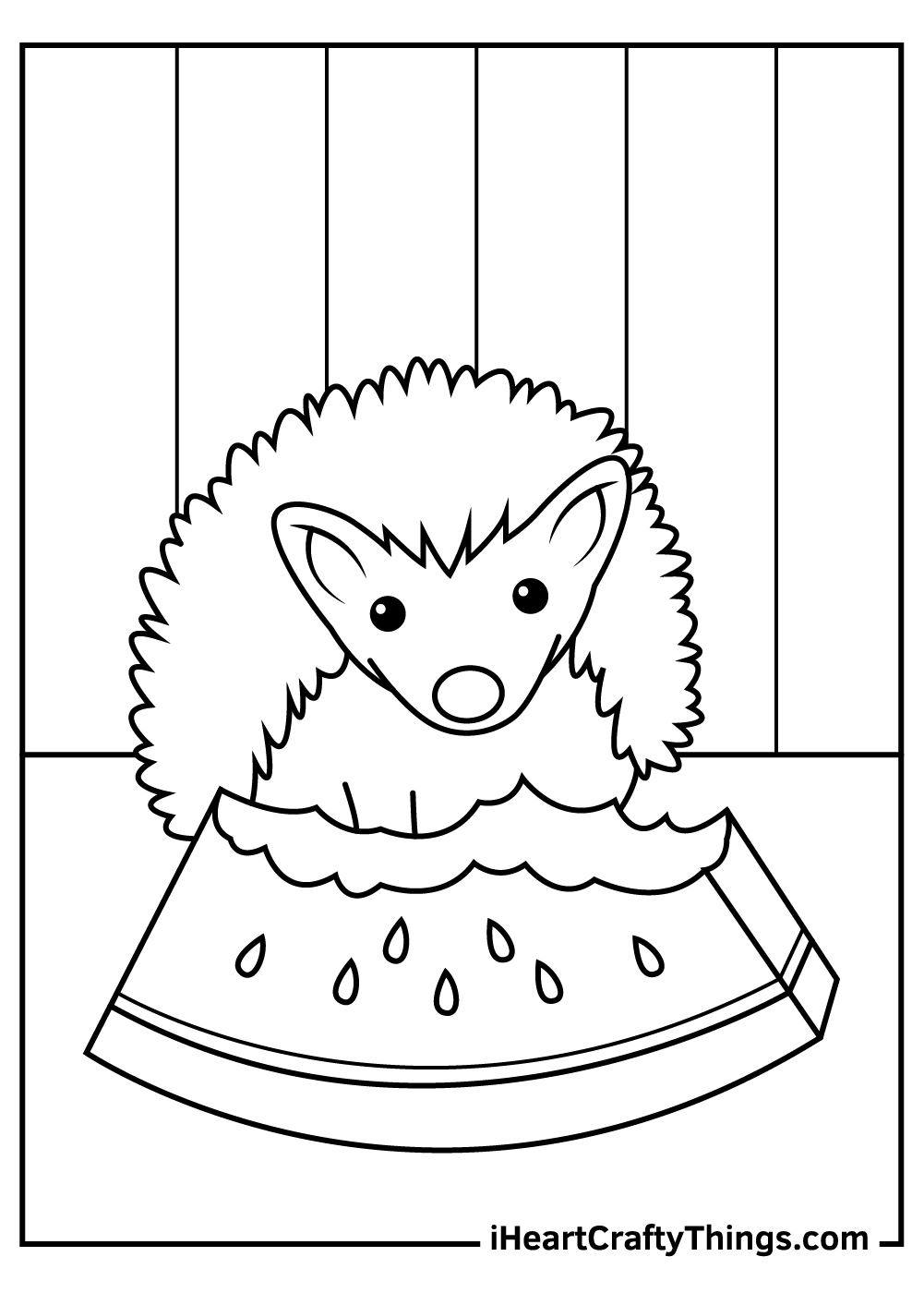 winter hedgehog coloring pages free pdf