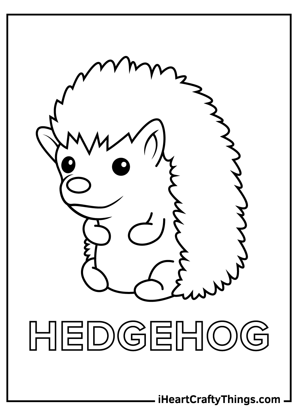 cute baby hedgehog coloring pages