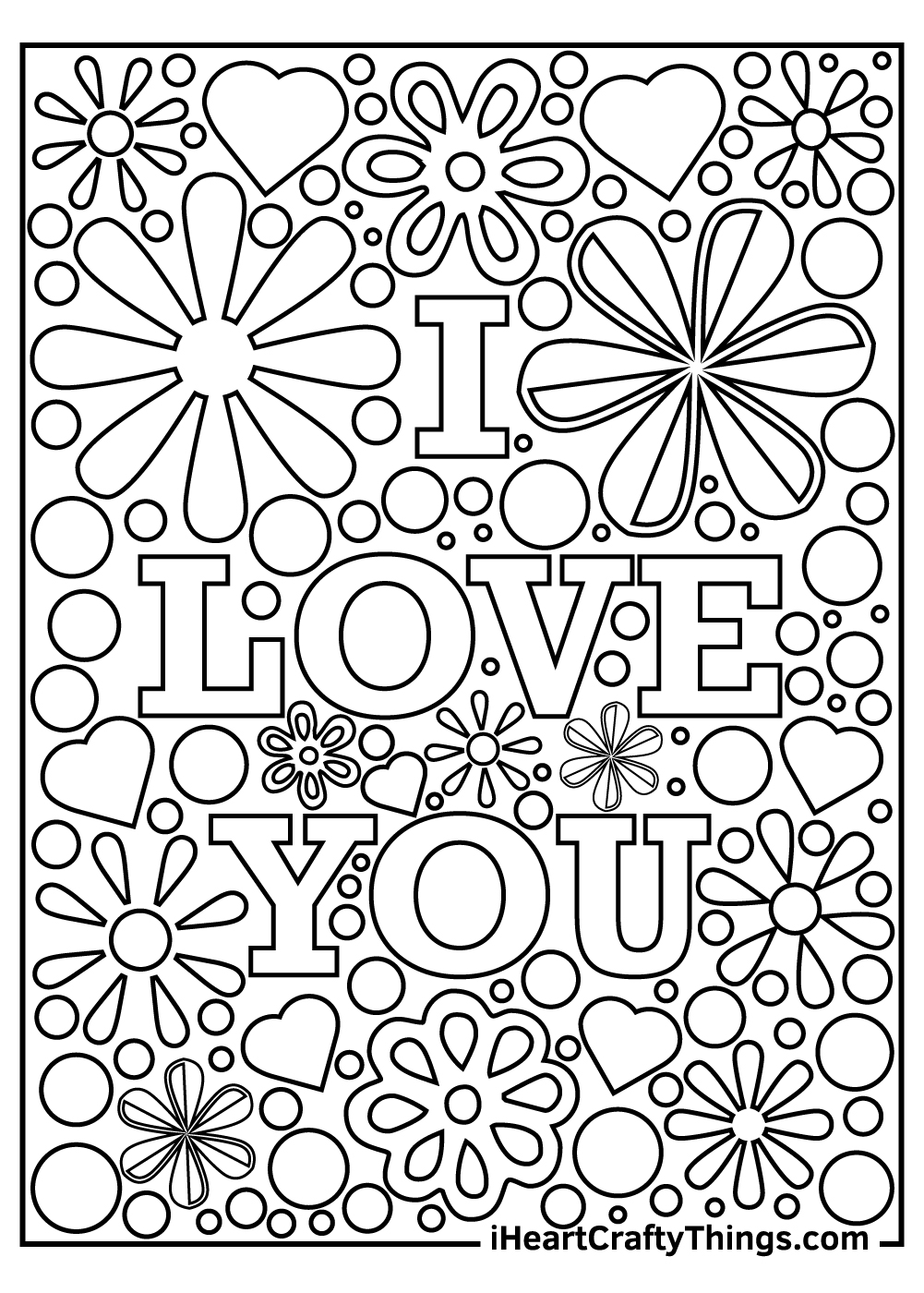 I Love You mom coloring pages free to print out