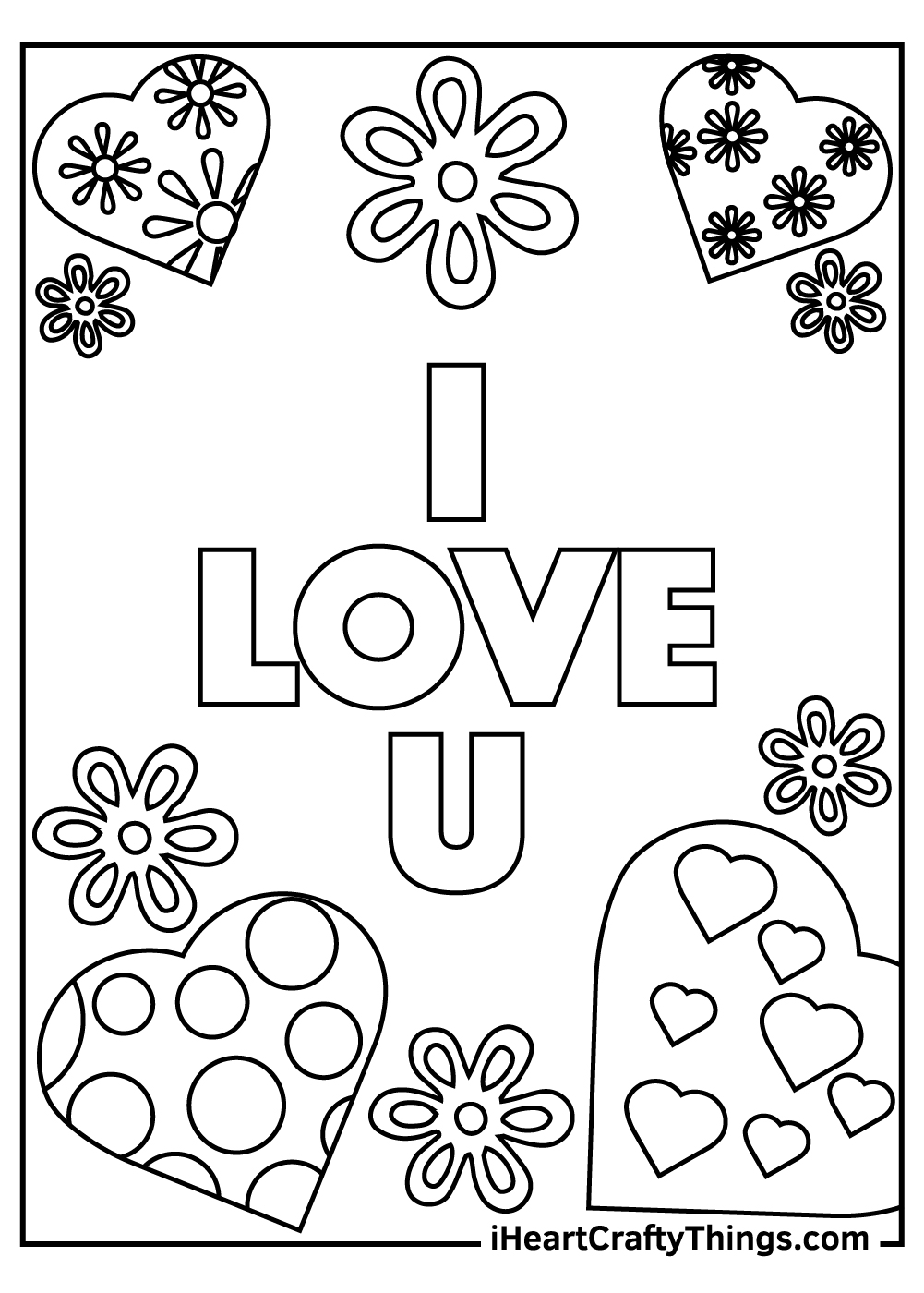 I Love You dad coloring pages free printable