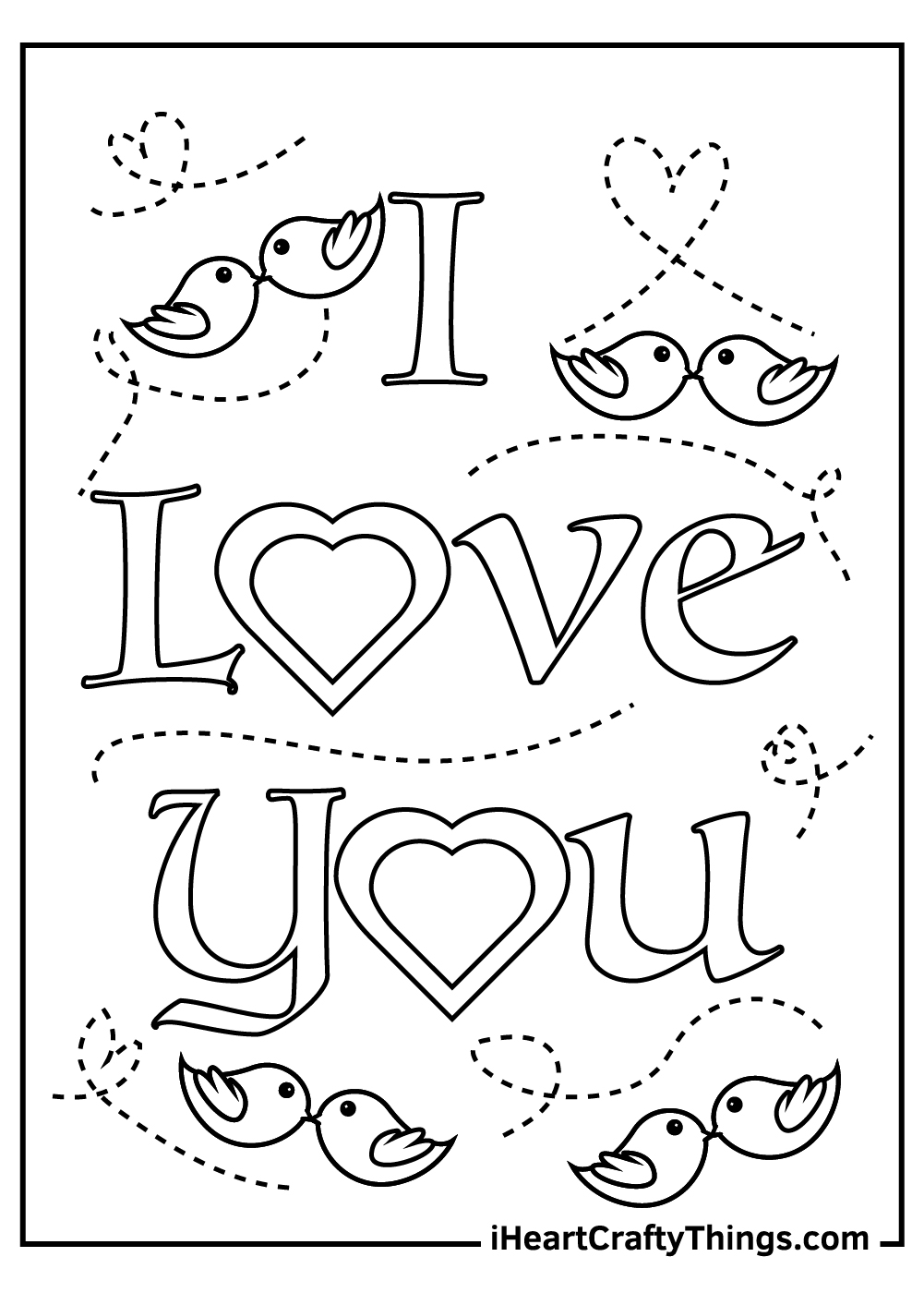 love birds I love you coloring pages