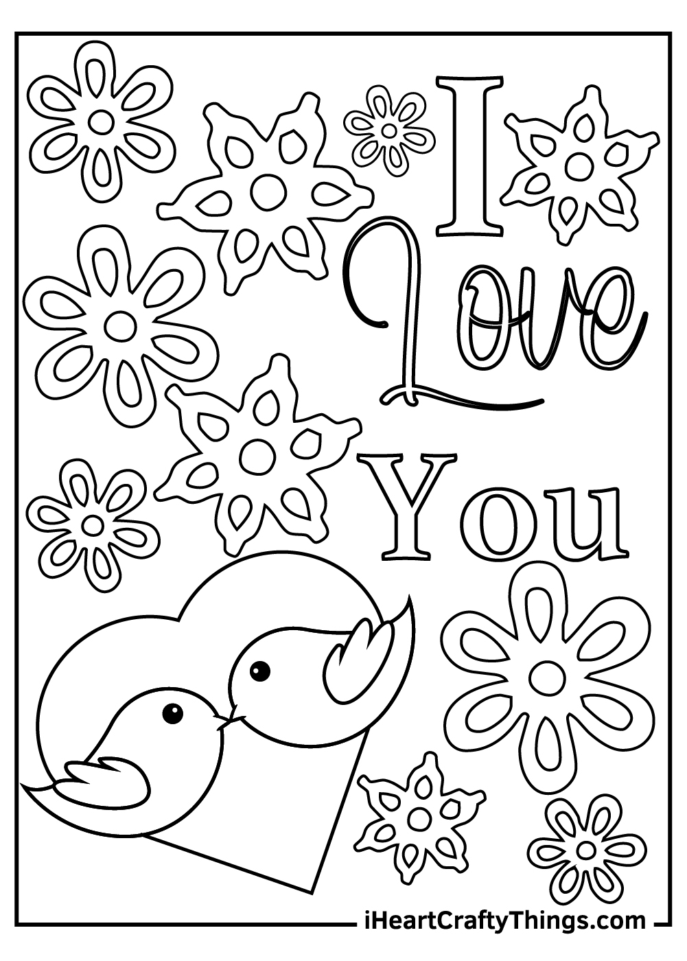 I love you coloring pages for kids